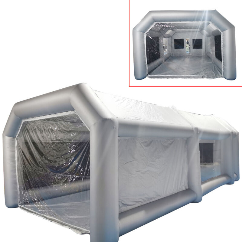 Portable Large Mobile Inflatable Car Spray Paint Booth Custom Tent 20*10*8ft New