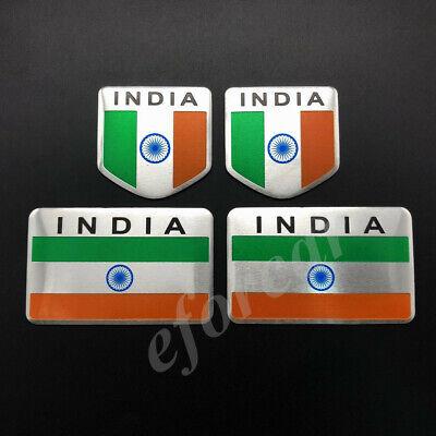4pcs Metal India Indian Flag Car Emblem Badge Motorcycle Gas Tank Sticker Decal
