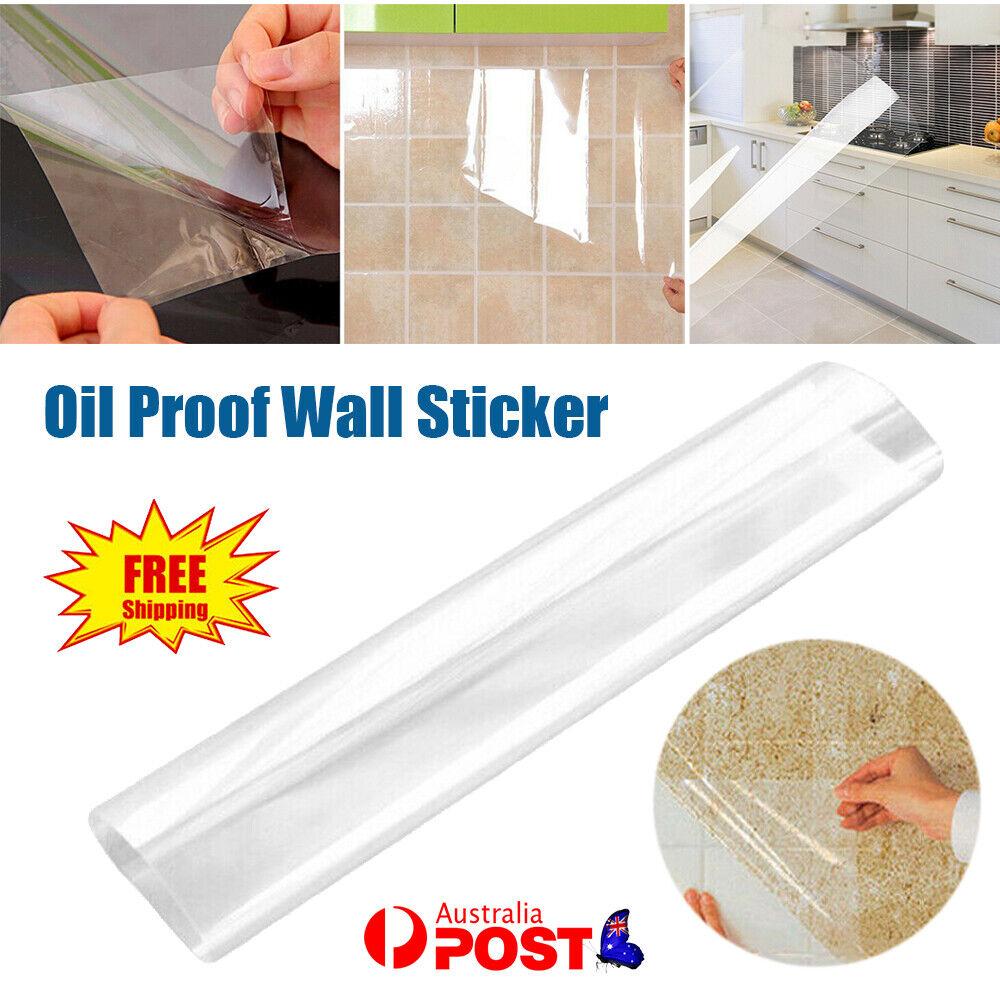 Home Decoration - Oil Proof Kitchen Home Decor Transparent Home DIY Ornament Wall Sticker AU