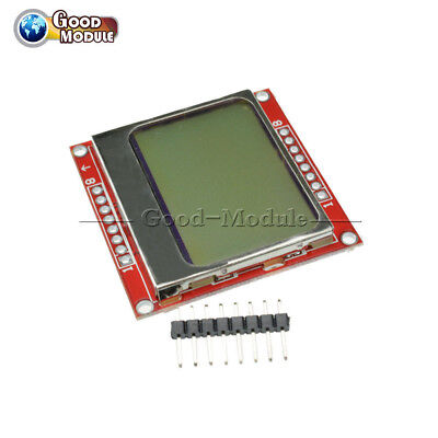 8448 Lcd Module White Backlight Adapter Pcb For Nokia 5110 For Arduino