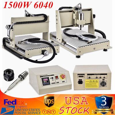 3 Axis Cnc Router Engraver Milling Machine Engraving Drilling 6040 Desktop Sale
