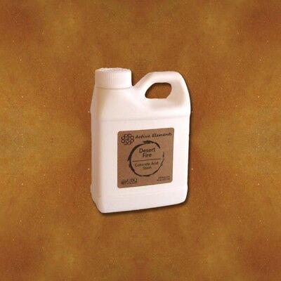 Acid Stain Concrete Sample Desert Fire Red Brown Terra Cotta 16oz
