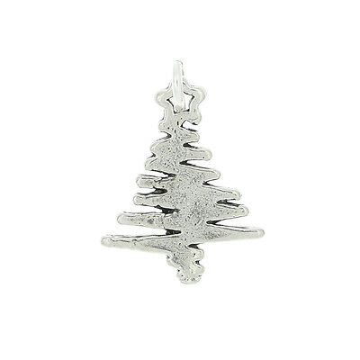 STERLING SILVER CHRISTMAS TREE CHARM OR PENDANT