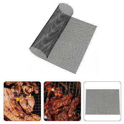 3PC BBQ Grill Mesh Non-Stick Mat Reusable Teflon Sheet Resistant Barbecue Meat