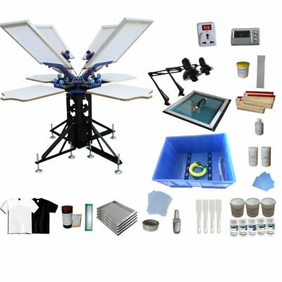 Techtongda 4 Color T-shirt Screen Printing Kit-press With Material Package006948