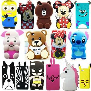 New 3D Cute Cartoon Soft Silicone Back Rubber Cover Case