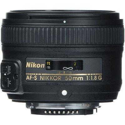 Valentines Deals 50mm 1.8 Nikon Nikkor 50 mm F/1.8G Fx G Swm Af-s Sic M/a Lens