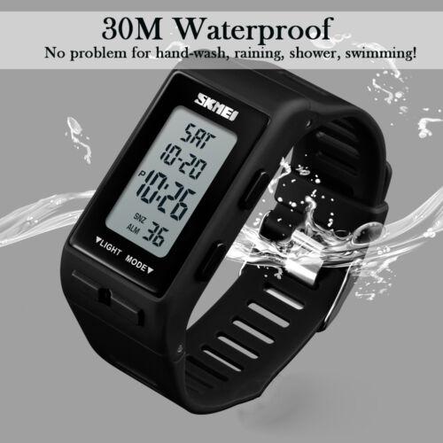 männer frauen digital schwimmen led elektronische alarm armband armband uhr