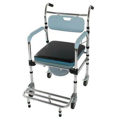 Bariatric 4 in 1 Commode Wheelchair Bedside Toilet & Shower