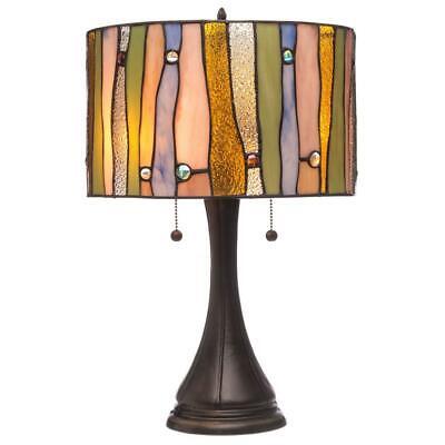 Serena d'italia Tiffany-style Drum Contemporary Table Lamp 14