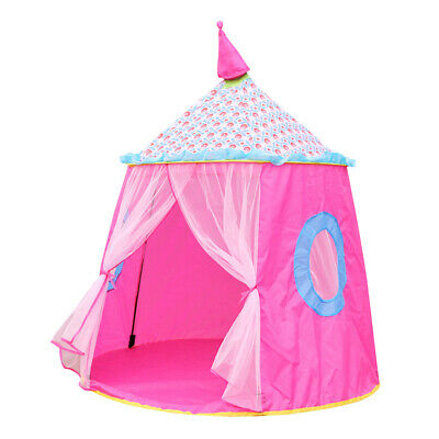 Girls Kids Princess Fairy Castle Play House Indoor Outdoor Pink Large Play Tent (Princess Castle Play Tent)