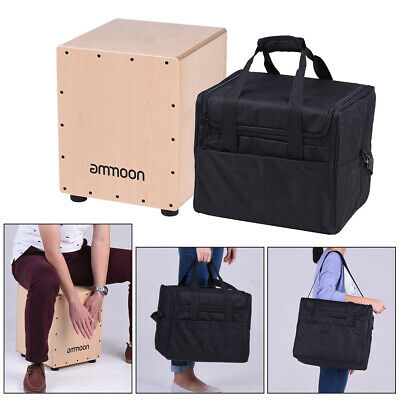 ammoon Medium Size Wooden Cajon Box Drum Hand Drum Birch Wood with Bag H5F9