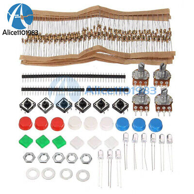 Electronic Parts Pack Diy Kit For Arduino Component Resistors Switch Button Cap