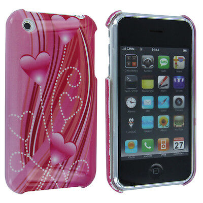 Pink Hearts Back Cover Case for iPhone 3 / 3G ()