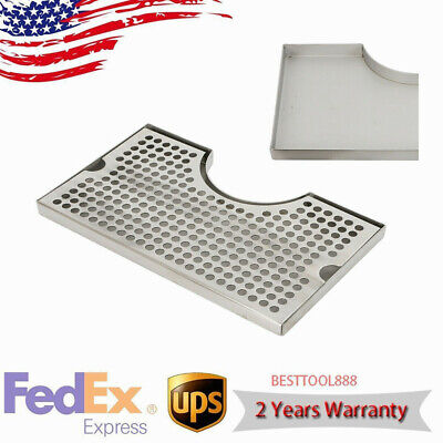 12x7x34 Stainless Steel Drip Tray Removable Kegerator Tap Draft Beer Drip Tray
