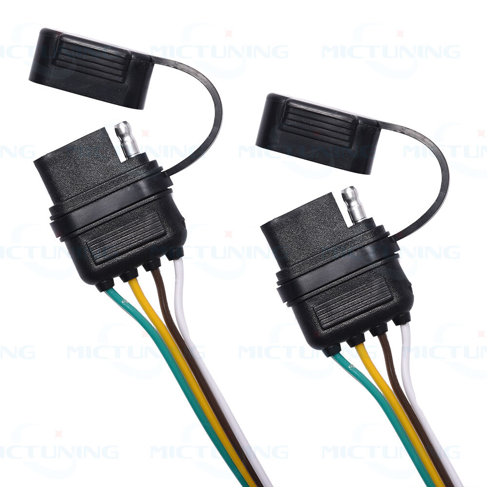 Trailer Splitter 2 Way 4 Pin Y Split Wiring Harness Adapter For Led Wire Tailgate Bar