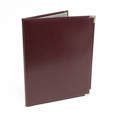 Four Point Classic Business Resume Portfolio Padfolio Burgundy Silver 8.5 X 11