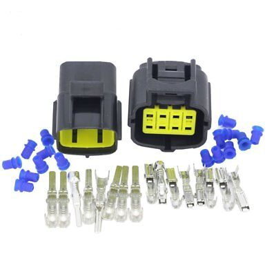 Car Motorcycle Waterproof 8 Pin Electrical 1.8mm Awg Wire Connector Plug