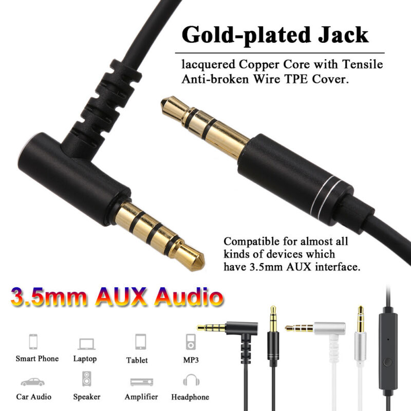 With Microphone Volume Control Headphones 3.5mm Audio Cable