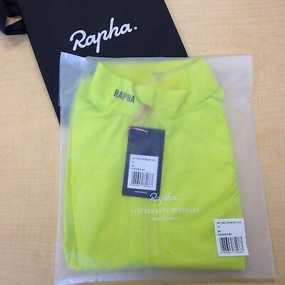 NEW RAPHA PRO TEAM LIGHTWEIGHT GILET VEST S SMALL YELLOW CHARTREUSE ROAD BIKE
