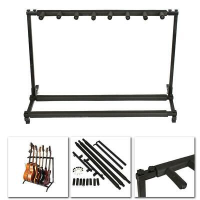 New Acoustic Guitar Stand 7 Holder Guitar Folding Stand Rack Band Stage Bass