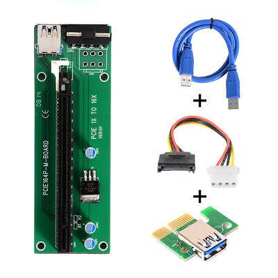 PCI-E 1X to 16X Mining Enhanced Extender Riser Karte Adapter USB3.0 AC770