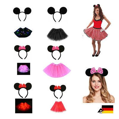MAUS HAARREIF Tütü KOSTÜM Damen Mädchen Fasching Outfit Karneval Polka Punkte