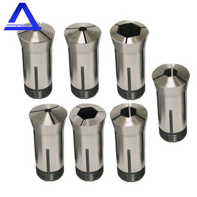 7PC 3C Round Collet Set Include 1//8,3//16,1//4,5//16,3//8,7//16,1//2