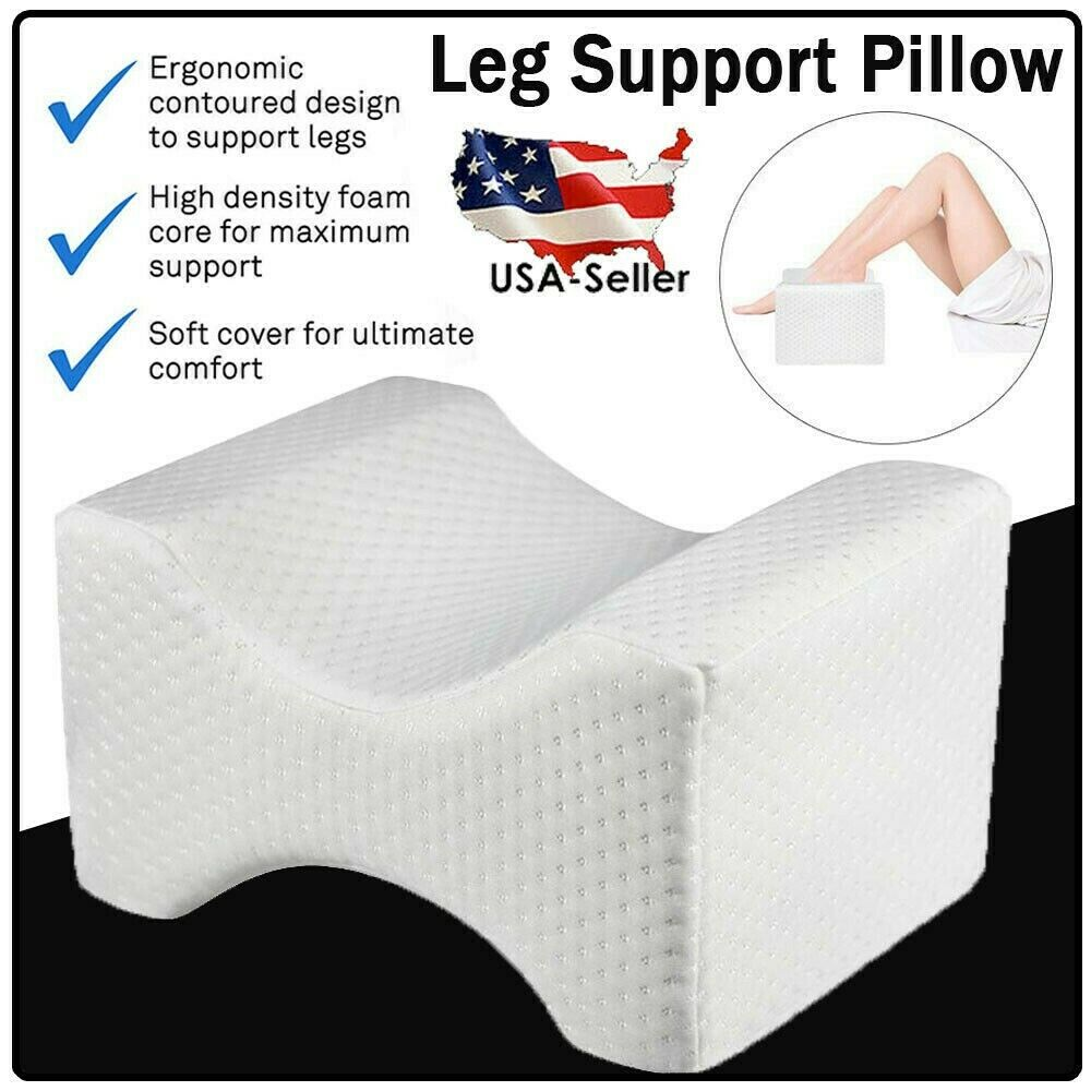 Memory Foam Knee Leg Bed Pillow Wedge for Side Sleepers Hip
