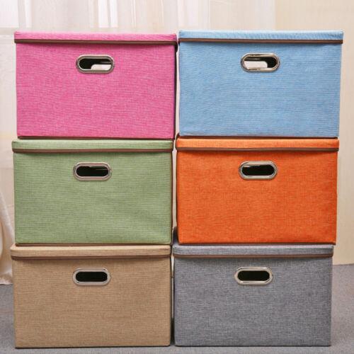 Aufbewahrungskorb Aufbewahrungsbox mit Deckel Leine Faltbox Kleidung Regalbox