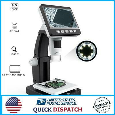 Mustool G710 1000x 4.3 Inches Hd 1080p Portable Desktop Lcd Digital Microscope
