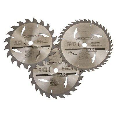 3 x Circular Saw Blades, 190mm x 16mm Bore Hole, 20T,24T,40T