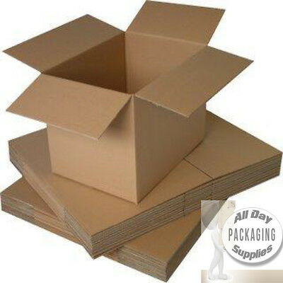 10 SMALL BROWN CARDBOARD PACKAGING BOXES SIZE 9 X 9 X 9