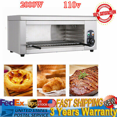 Electric Cheese Melter Broiler Bbq Gril Countertop Grill Adjustable 50-300 C Us