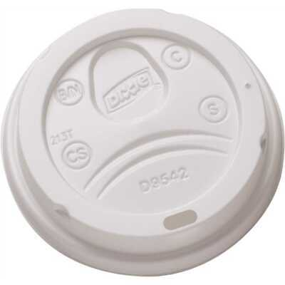 Dixie D9542 Dome Lid for 10-16 oz PerfecTouch Cups, White, 550 Lids.