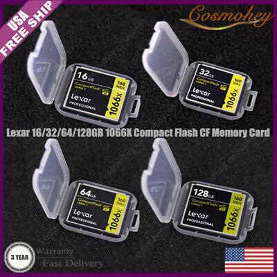 New Lexar 128/64/32/16GB 1066X 160MB/s UDMA7 Compact Flash UDMA7 CF Memory Card Lexar Compact Flash Card
