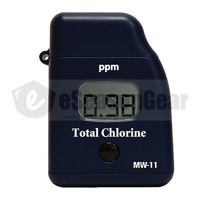 Milwaukee Mw11 Total Chlorine Testermeter Mini Handy Photometer Instruments