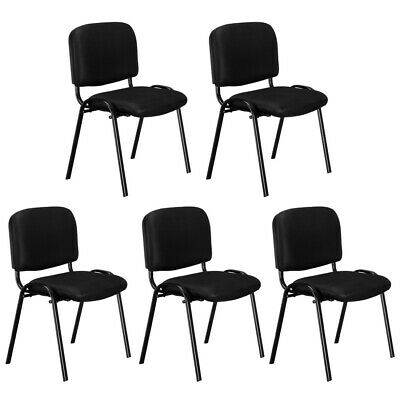 5 Pcs Conference Chair Set Stackable Office Chairs Ergonomic For Waiting Room