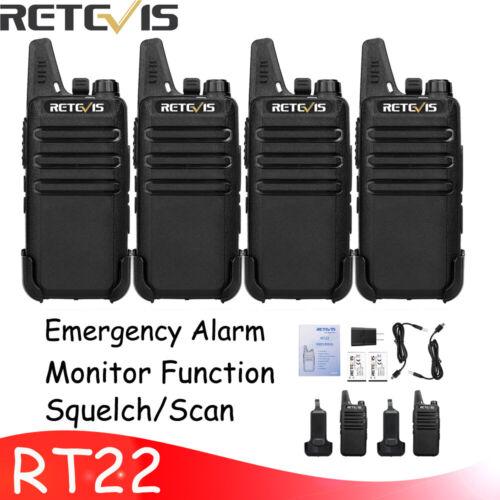 10X Retevis RT22 Walkie Talkie 2W UHF 16CH TOT VOX Scan 2Way Radio+10X Earpieces