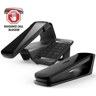 iDect LLOYD Home Telephone Cordless Landline Call Blocking Answer Machine Black