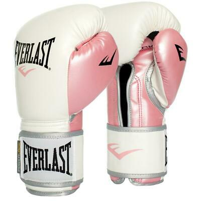 Everlast 12oz. Powerlock Training Boxing Gloves in White/Pink