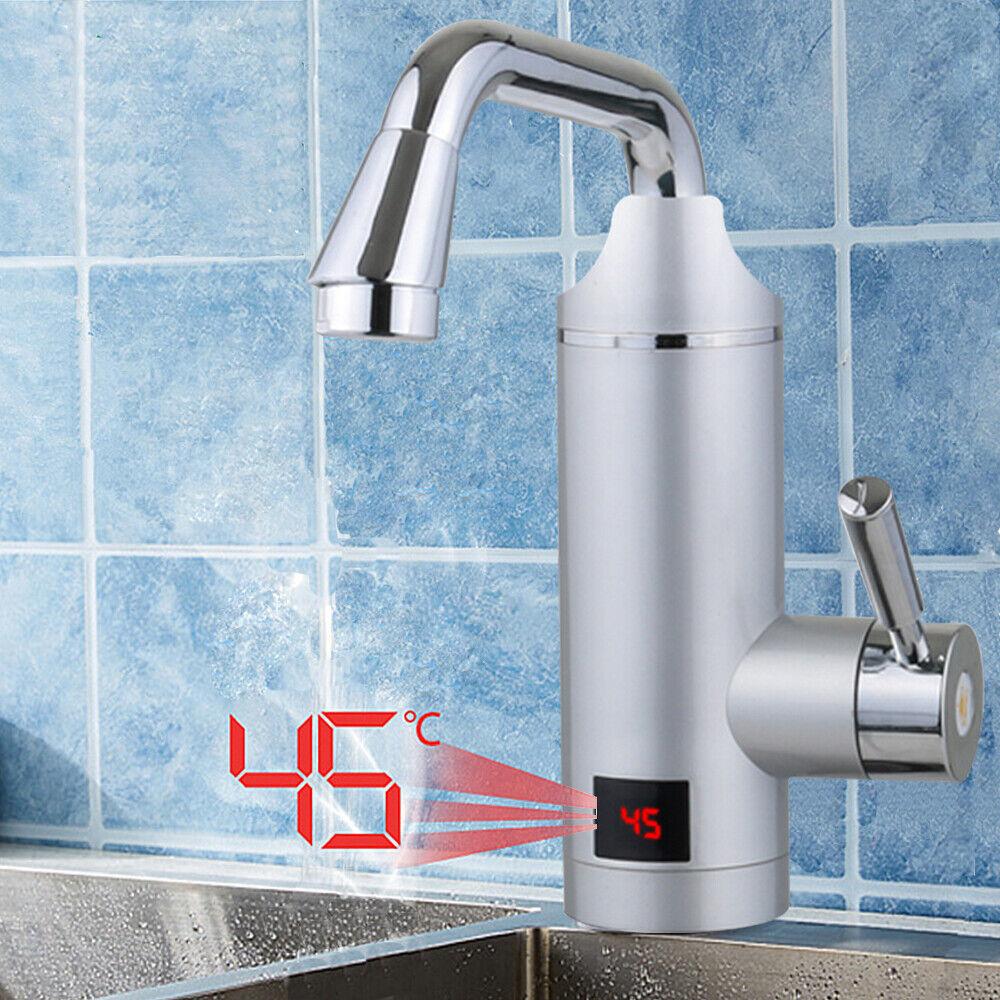 elektrische k che durchlauferhitzer wasserhahn instant warmwasserhahn 30 60 c ebay. Black Bedroom Furniture Sets. Home Design Ideas