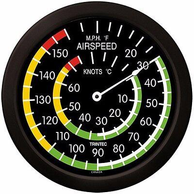 "Trintec Mega 14"" Aviation Airspeed Indicator Round Thermometer 9061-14 Aviatrix"