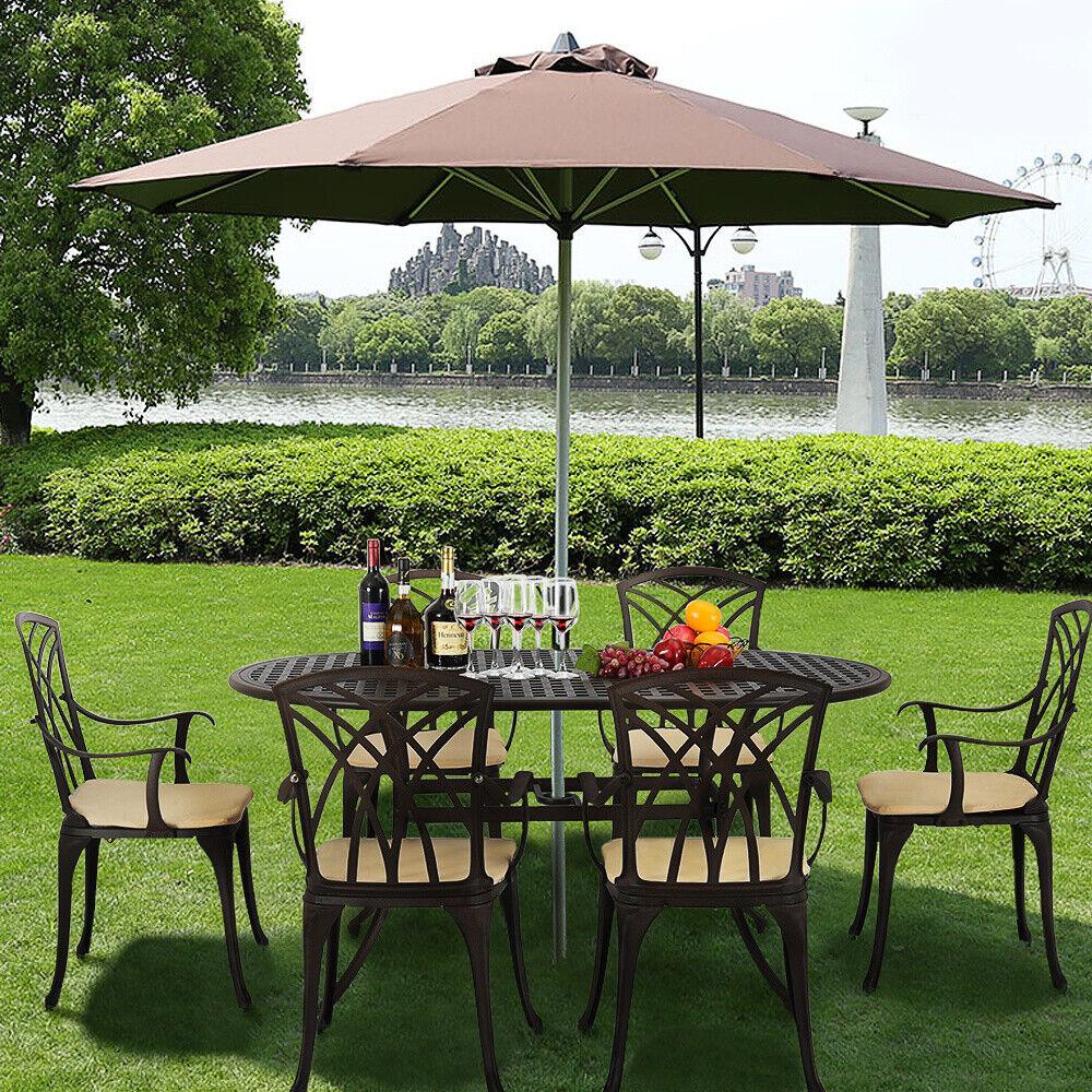 Garden Furniture - Cast Aluminium Garden Furniture Set Patio Table and Chairs Bistro Outdoor New