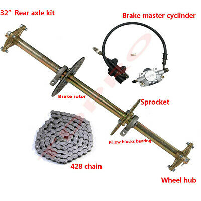 "Brake Assembly Sprocket Hub Drift Trike 32/"" Go Kart ATV Live Rear Axle Kit"