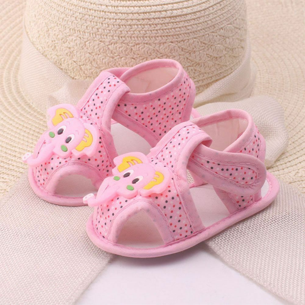 Elephant Pattern Summer Girls For Baby Soft Sole Shoes Toddler Sandals Boy