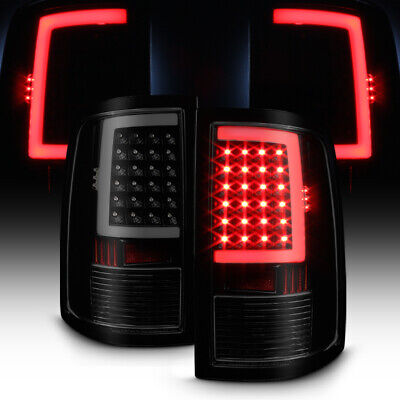 Black Smoke 2009-2018 Dodge Ram 1500 10-18 2500 3500 LED Tube Tail Lights Lamps