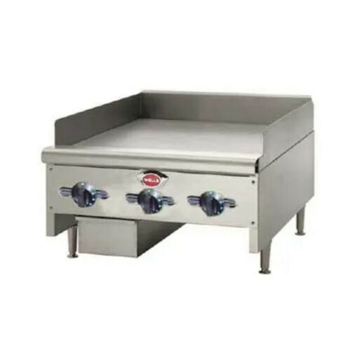 """Wells Hdg-3630g 35"""" Wide Natural Gas Countertop Griddle"""