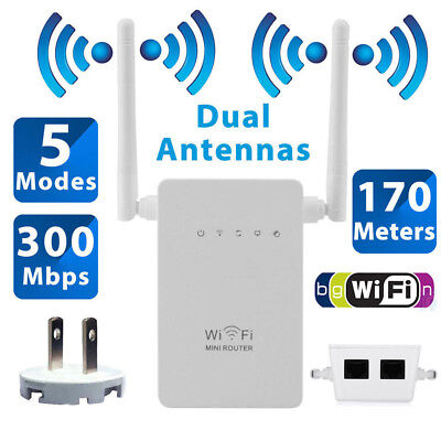 300Mbps Wifi Repeater Wireless N Range Extender Signal Booster Network Router