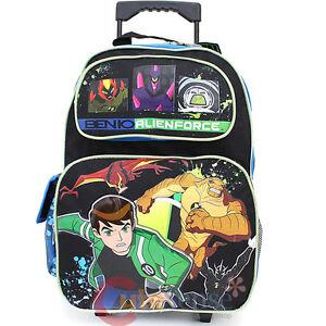 Ben 10 Alien Force Roller School Backpack 16